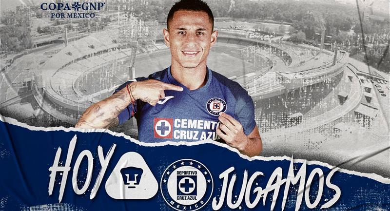 Así promocionó el Cruz Azul el duelo ante Pumas en sus redes sociales. Foto: Facebook (Cruz Azul Fútbol Club)