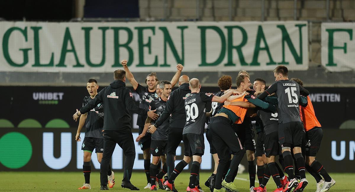Werder Bremen podrá seguir jugando la Bundesliga la siguiente temporada. Foto: EFE
