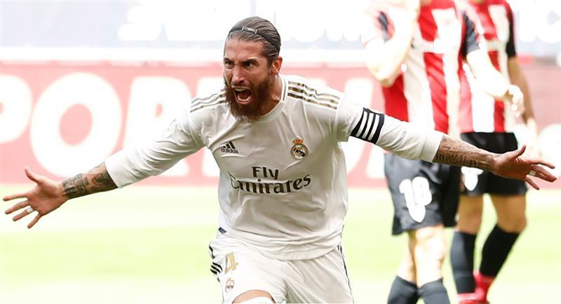 Sergio Ramos tras el gol de penal para Real Madrid. Foto: Club Real Madrid