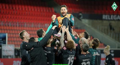 Claudio Pizarro: así despidieron al peruano los jugadores del Werder Bremen (VIDEO)