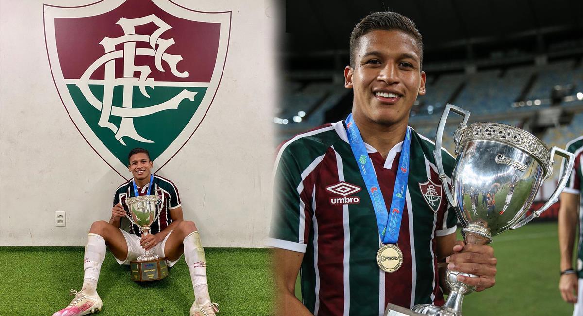 Fernando Pacheco logró su primer título en el exterior. Foto: Instagram - @fernandorivas_99 / @lucasmerconphotos