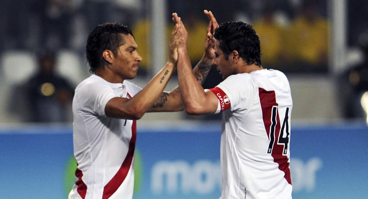 Paolo Guerrero jugó en más de una oportunidad con Pizarro. Foto: Andina