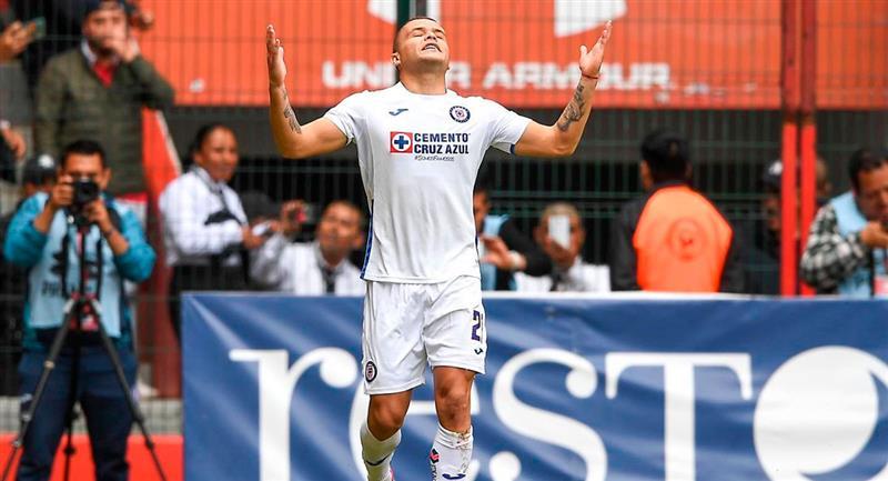 Jonathan Rodríguez marcó uno de los goles. Foto: Facebook (cruzazulfutbol)