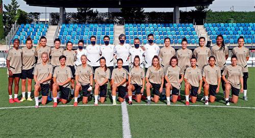 Real Madrid femenino entrena por primera vez en España