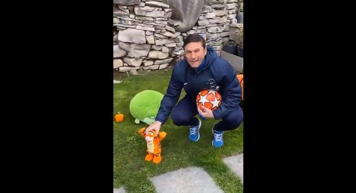 Javier Zanetti realizó su equipo de la cuarentena. Foto: Twitter @RxDemolicion