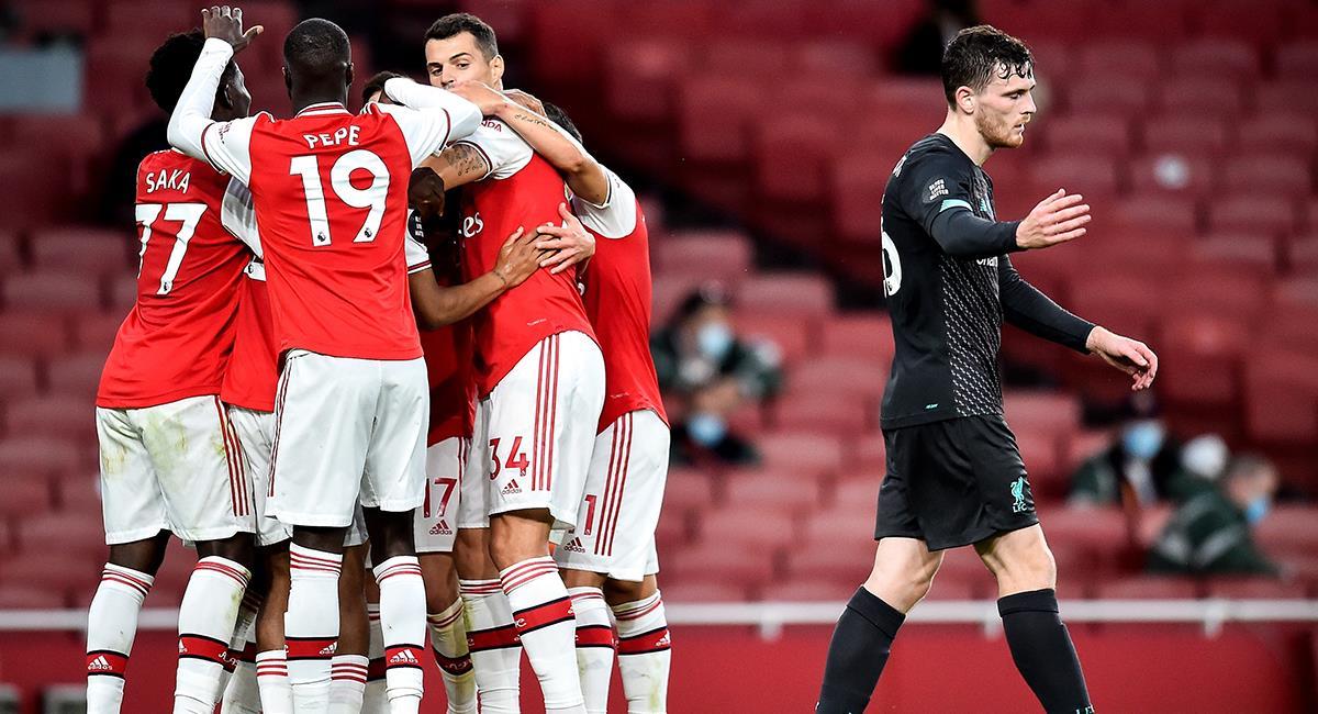 Arsenal dio vuelta al marcador frente a Liverpool en casa. Foto: EFE