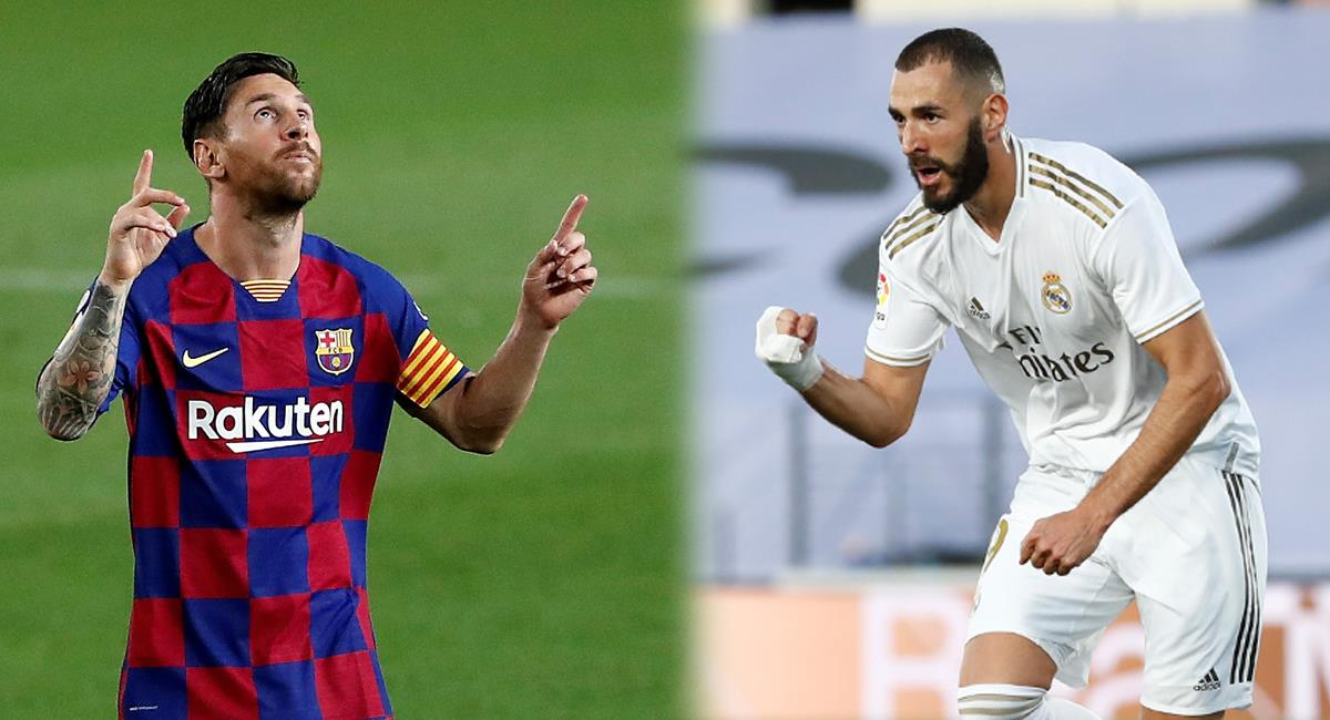 Messi y Benzema lideran la tabla de goleadores de LaLiga. Foto: Agencia EFE / Club Real Madrid