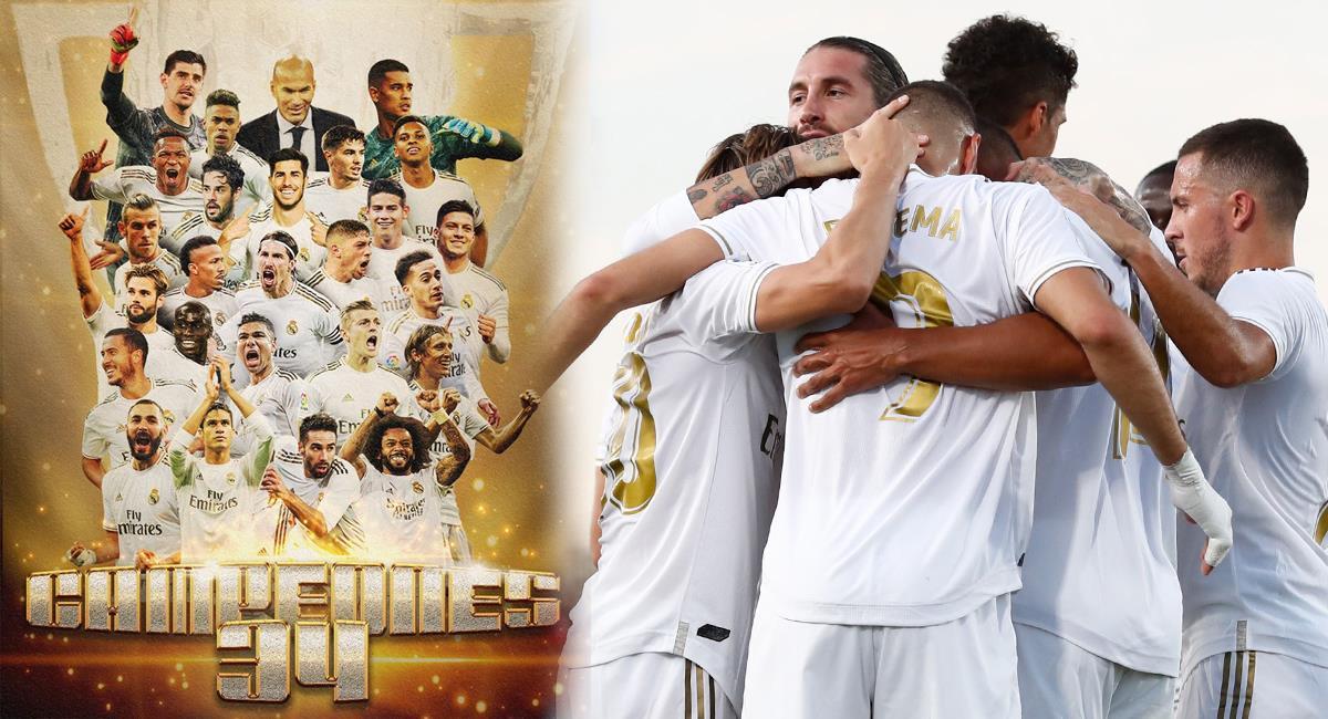 Real Madrid logró su estrella número 34 en LaLiga. Foto: Real Madrid