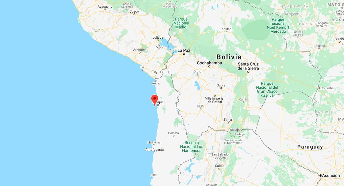 Fuerte sismo sacudió Tacna. Foto: Google Maps