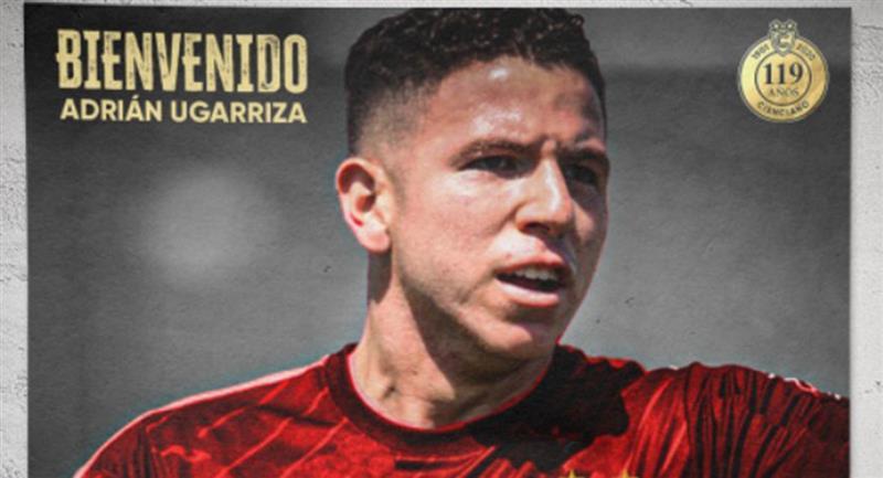 Adrián Ugarriza defenderá la camiseta de Cienciano el resto de temporada. Foto: Twitter Cienciano