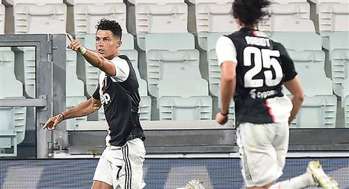 Juventus 2 Lazio 1: Doblete de Cristiano Ronaldo para seguir en la cima de la Serie A