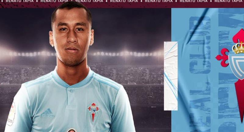 Renato Tapia fichó por el Celta de Vigo hasta el 2024. Foto: Twitter Difusión