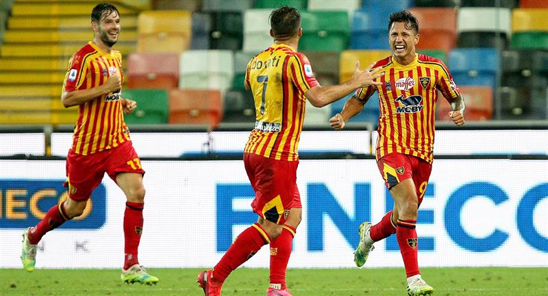 Gianluca Lapadula anotó el 2-1 del Lecce ante Udinese. Foto: EFE