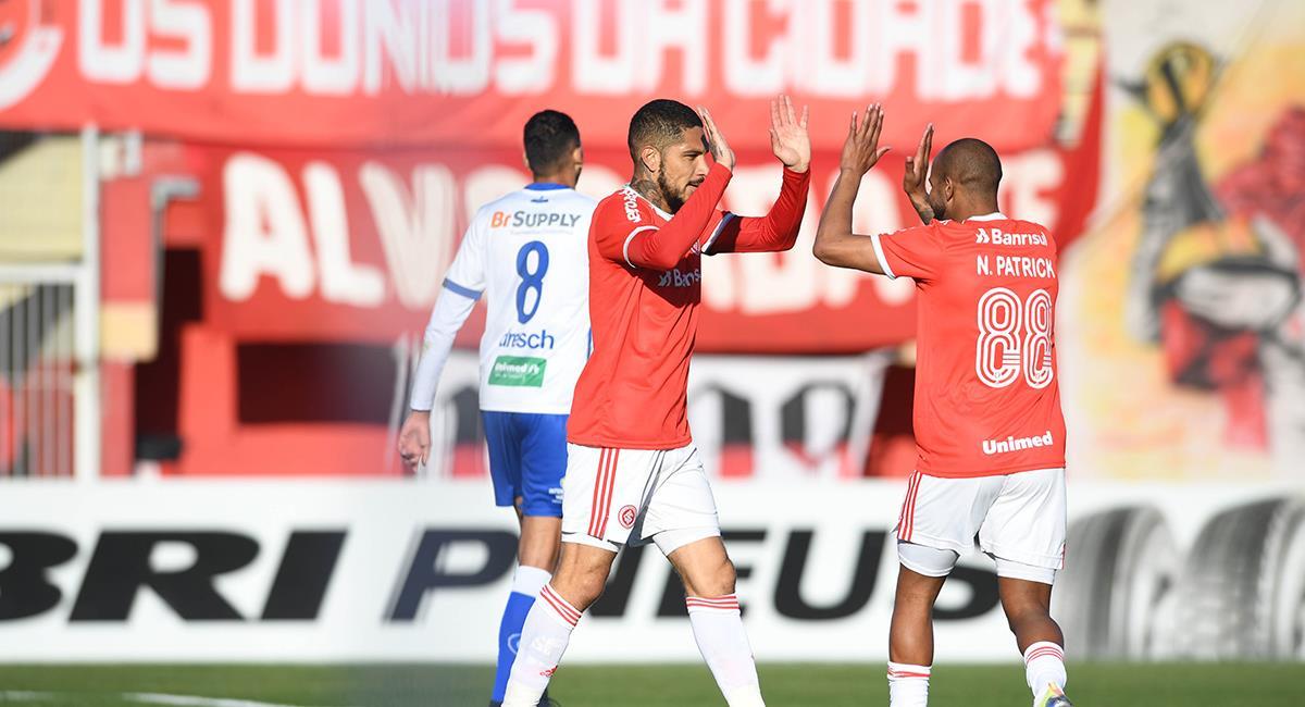 Paolo Guerrero marcó a los 20 y 61 minutos. Foto: Twitter Inter de Porto Alegre