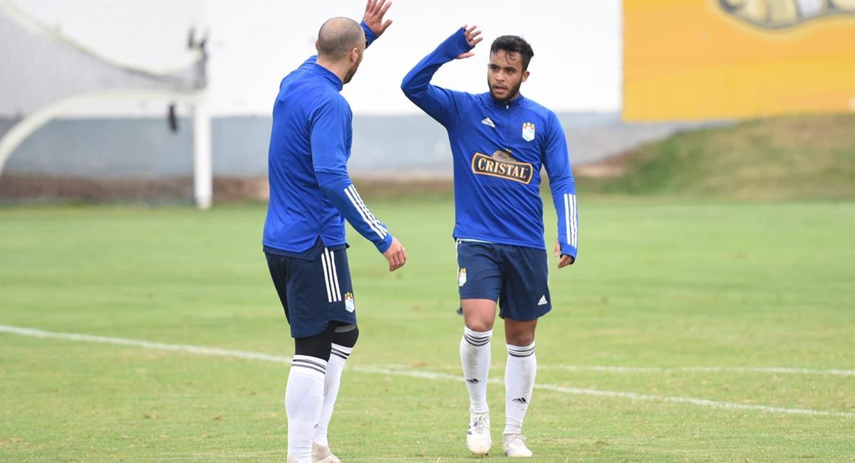 Jhon Marchán marcó uno de los goles en el amistoso de Cristal. Foto: Twitter Sporting Cristal