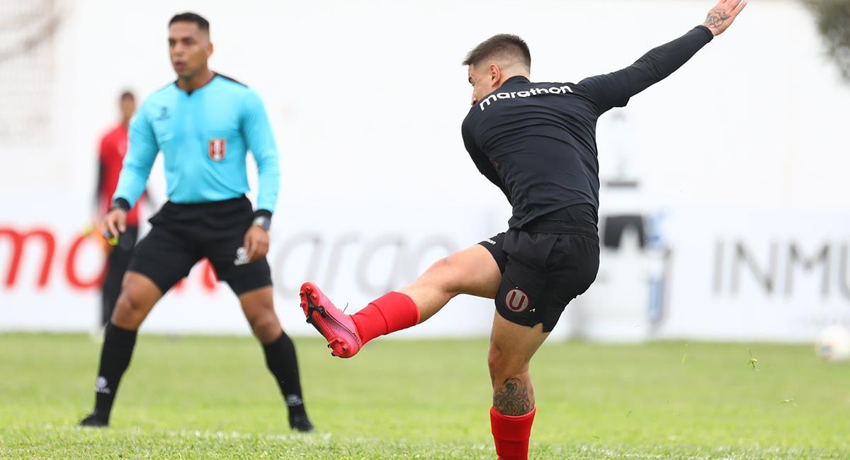Alejandro Hohberg marcó el 2-0 a los 37 minutos. Foto: Twitter Club Universitario de Deportes