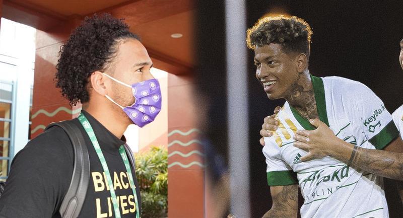 Pedro Gallese y Andy Polo en lucha por el título. Foto: Twitter Orlando City / Portland Timbers