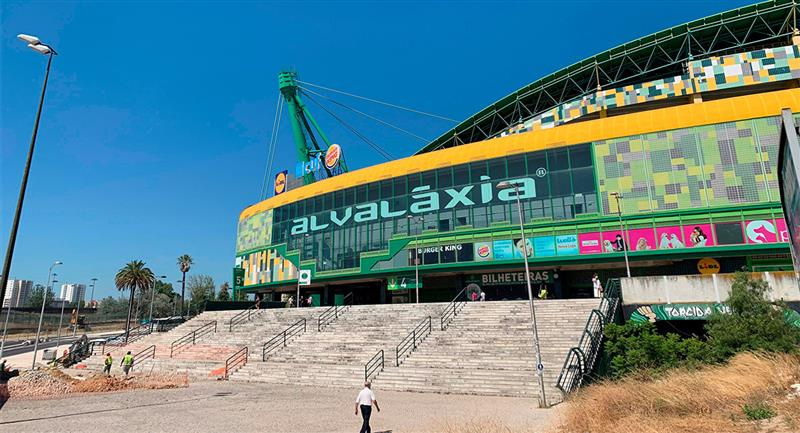 El estadio José Alvalade de Lisboa espera a los mejores equipos del mundo. Foto: EFE Nacho Ballesteros