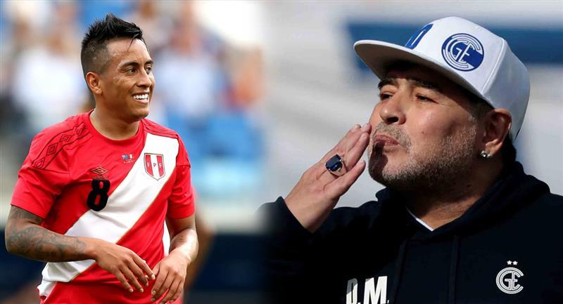 Christian Cueva es de interés para Diego Armando Maradona. Foto: EFE
