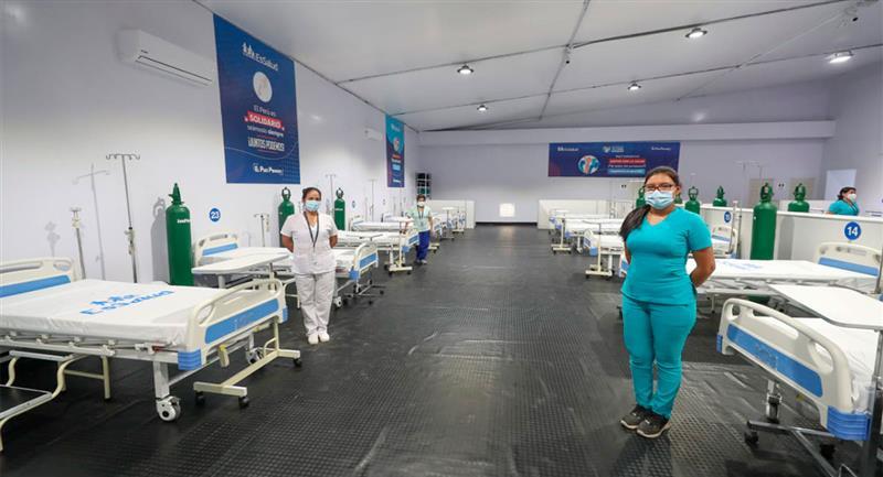 Perú habilita hospitales móviles para enfrentar la pandemia. Foto: Twitter @EsSaludPeru