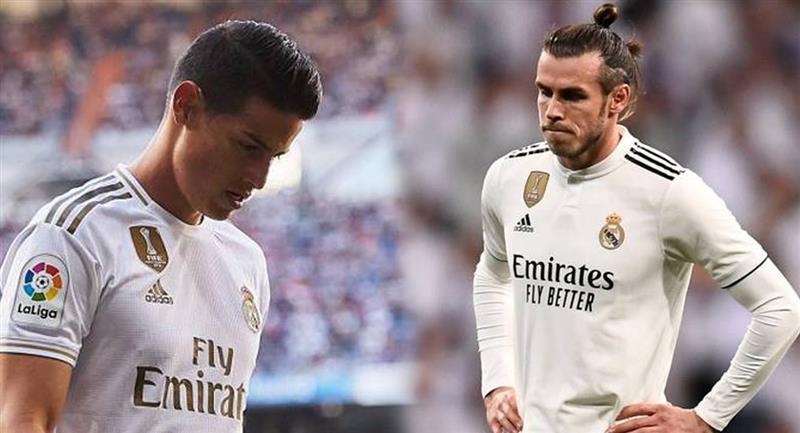 James Rodríguez y Gareth Bale fuera de la lista del Real Madrid. Foto: EFE