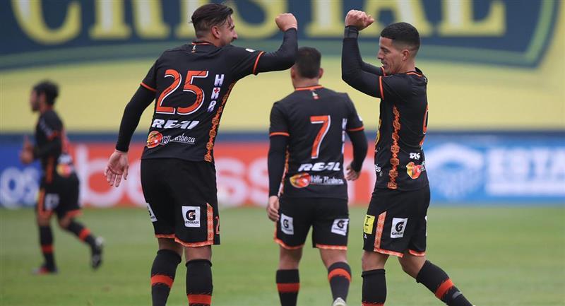 Carlos Olascuaga puso el segundo a favor de Ayacucho FC. Foto: Twitter Liga de Fútbol Profesional