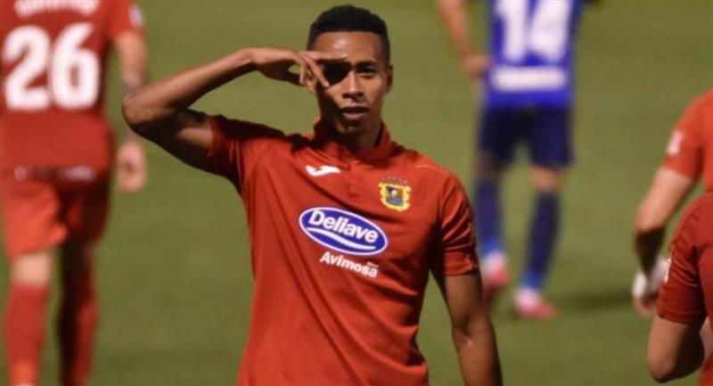 Jeisson Martínez no pudo lograr el ascenso con Fuenlabrada. Foto: Twitter @JeissonM9
