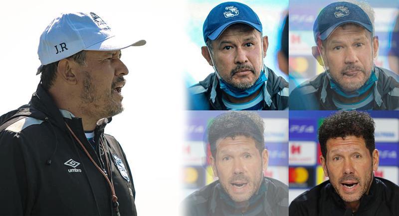 Juan Reynoso y el entretenido post de su equipo. Foto: Facebook Club Puebla