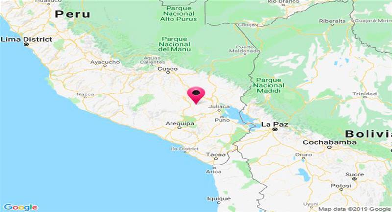 La semana se inicia con sismo en Puno. Foto: Twitter @DHN_peru