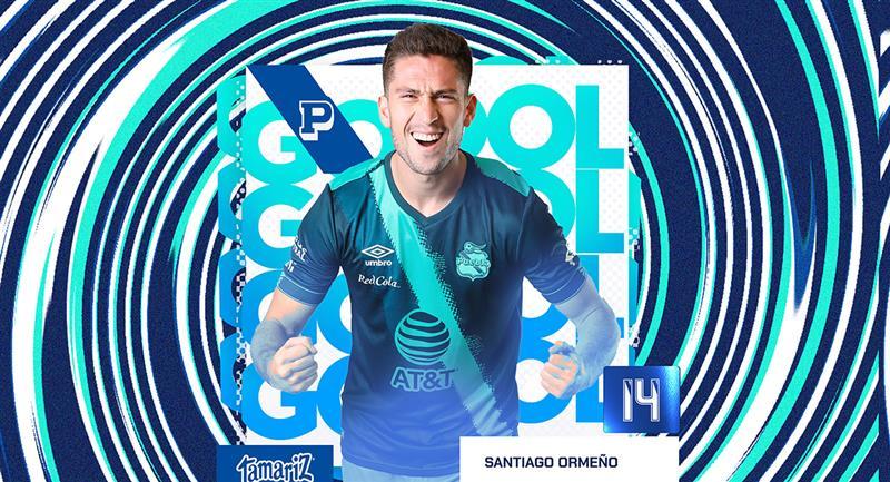 Santiago Ormeño viene marcando tres goles en cuatro jornadas. Foto: Twitter @ClubPueblaMX
