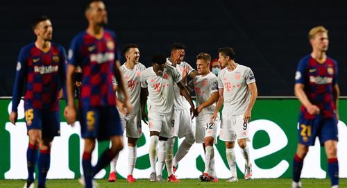 Paliza: Bayern Múnich apabulló 8-2 al Barcelona y ya está en semifinales de la Champions League