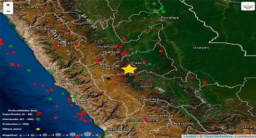 Temblor de 3.8 de magnitud sacude Pasco