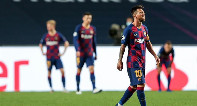 Barcelona sufrió la peor de las goleadas en Champions. Foto: EFE