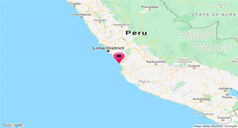 Sismo sacude San Vicente de Cañete, al sur de Lima. Foto: Twitter @DHN_peru