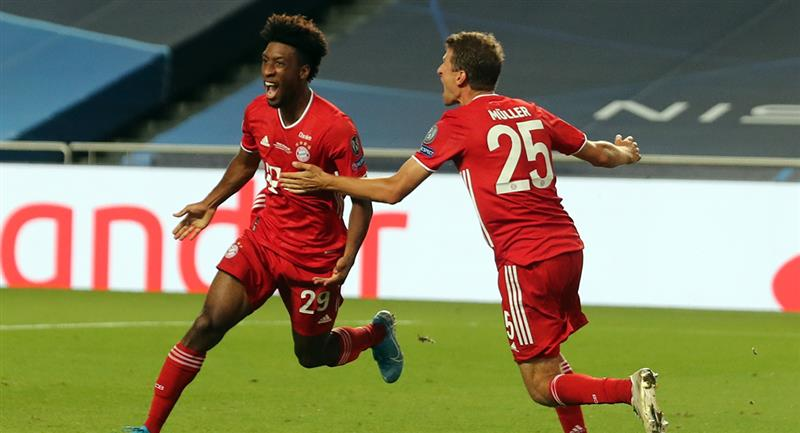 Coman anota el primero para Bayern Munich. Foto: EFE