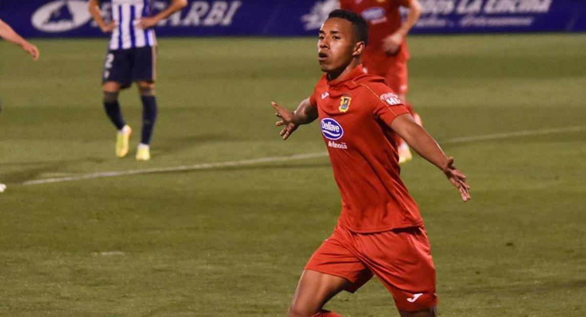 Jeisson Martínez jugó en el Fuenlabrada de España. Foto: Instagram @jeisson.9