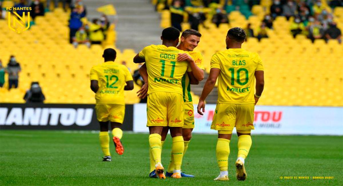 Nantes sumó su primera victoria en Francia. Foto: Twitter @FCNantes