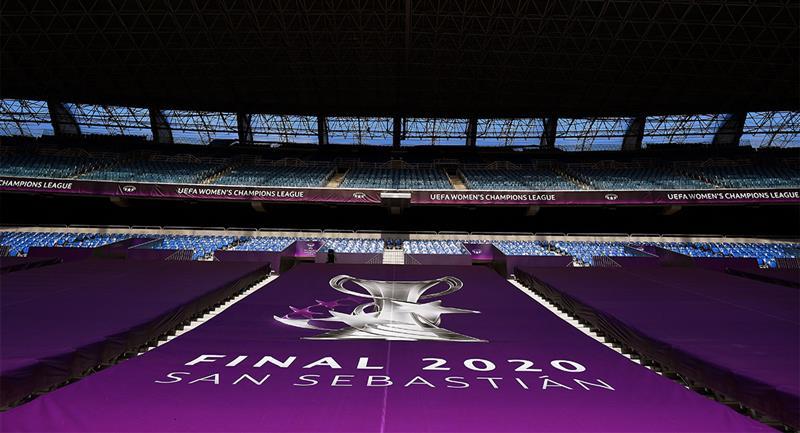 Todo listo para la final de la Liga de Campeones Femenina. Foto: EFE