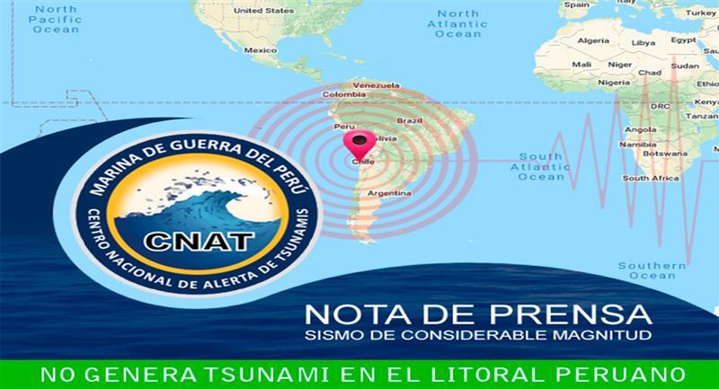 Fuerte Terremoto De 7 Grados En Chile No Genera Tsunami En Peru