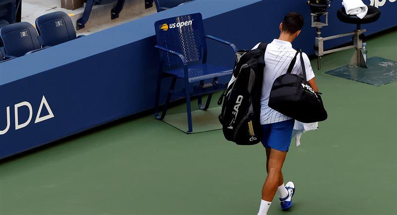 Novak Djokovic fue descalificado del US Open. Foto: EFE