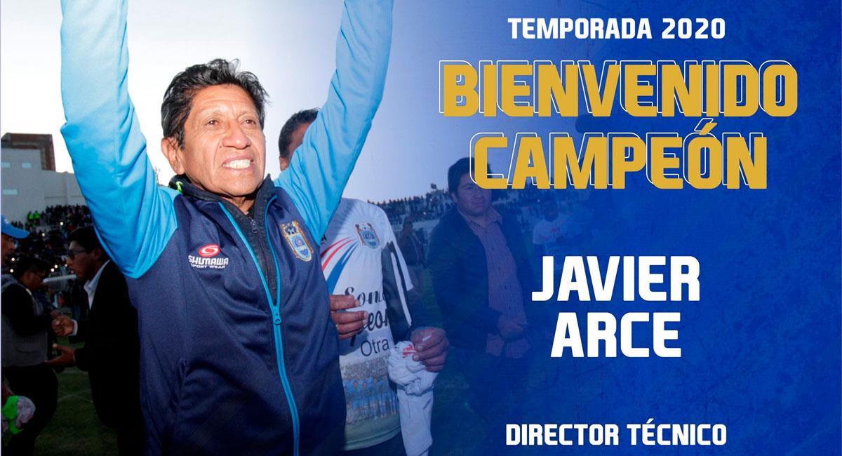 Javier Arce logró el título del Torneo Apertura con Binacional en el 2019. Foto: Twitter @BinacionalFC