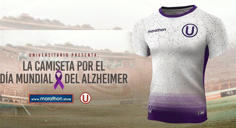 La nueva camiseta de Universitario. Foto: Twitter @MarathonPeru