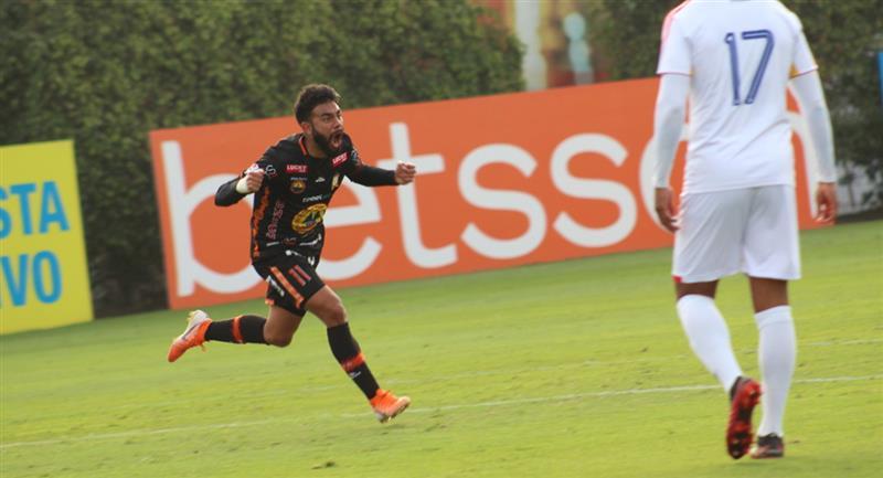 Leandro Sosa marcó el empate para Ayacucho FC a los 57 minutos. Foto: Twitter Liga de Fútbol Profesional