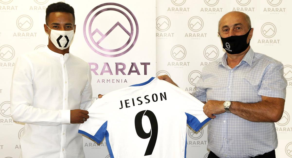 Jeisson Martínez firmó contrato en Armenia. Foto: Twitter @araratarmeniafc