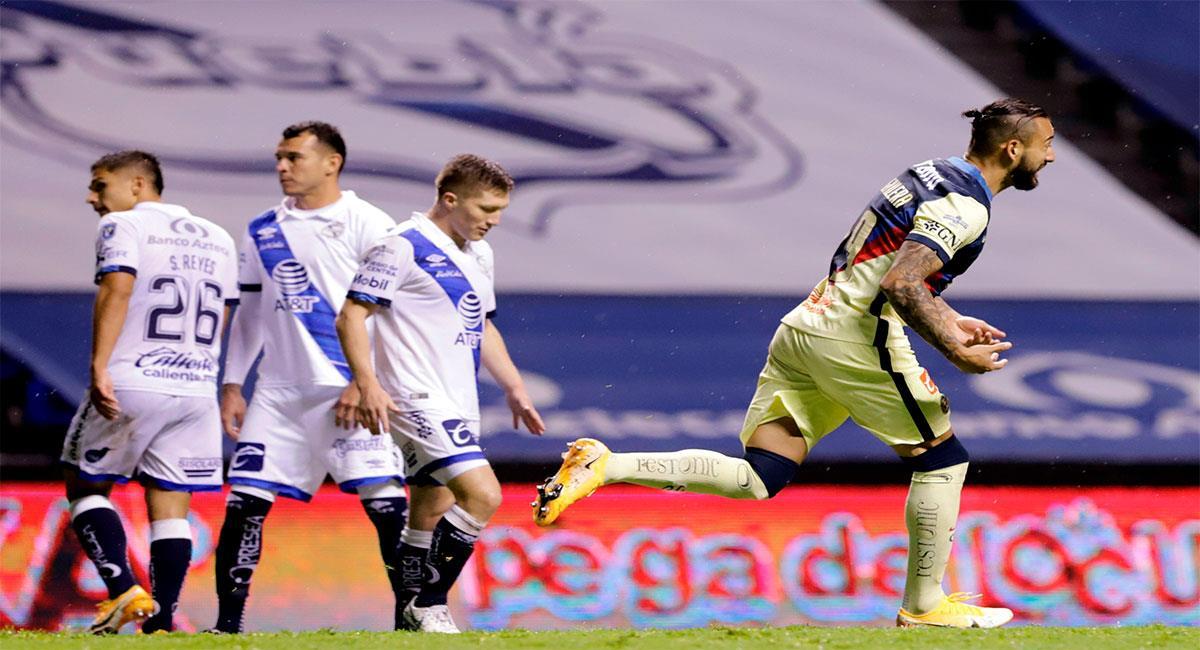 Puebla ganaba 2-0, pero América volteó el marcador. Foto: EFE