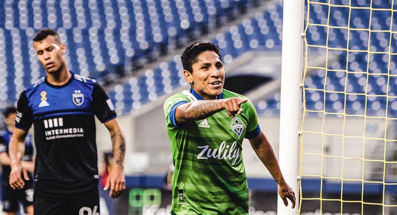 Raúl Ruidíaz sigue dejando huella en la MLS. Foto: Twitter Seattle Sounders