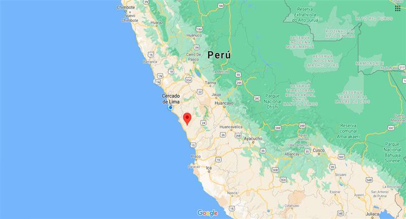Temblor sacudió Mala este lunes 14 de septiembre. Foto: Google Maps