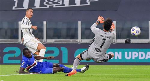 Con gol de Cristiano Ronaldo, Juventus goleó 3-0 a Sampdoria en el inicio de la Serie A