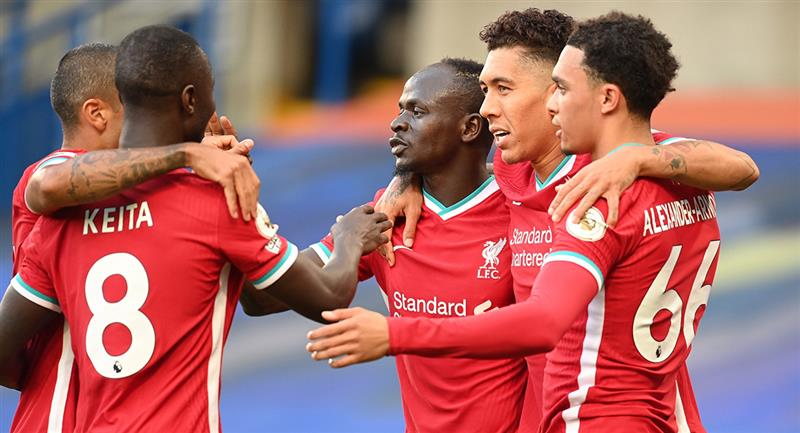 Sadio Mané marcó doblete en triunfo de Liverpool. Foto: EFE