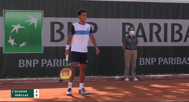 Juan Pablo Varillas se despidió rápido del Roland Garros 2020. Foto: Twitter Comité Olímpico Perú